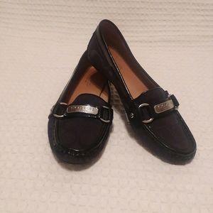 Coach Black Felisha Logo Loafers